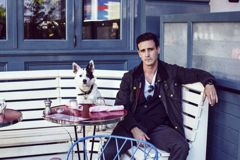 James Ransone with his dog Sonny in the East Village.