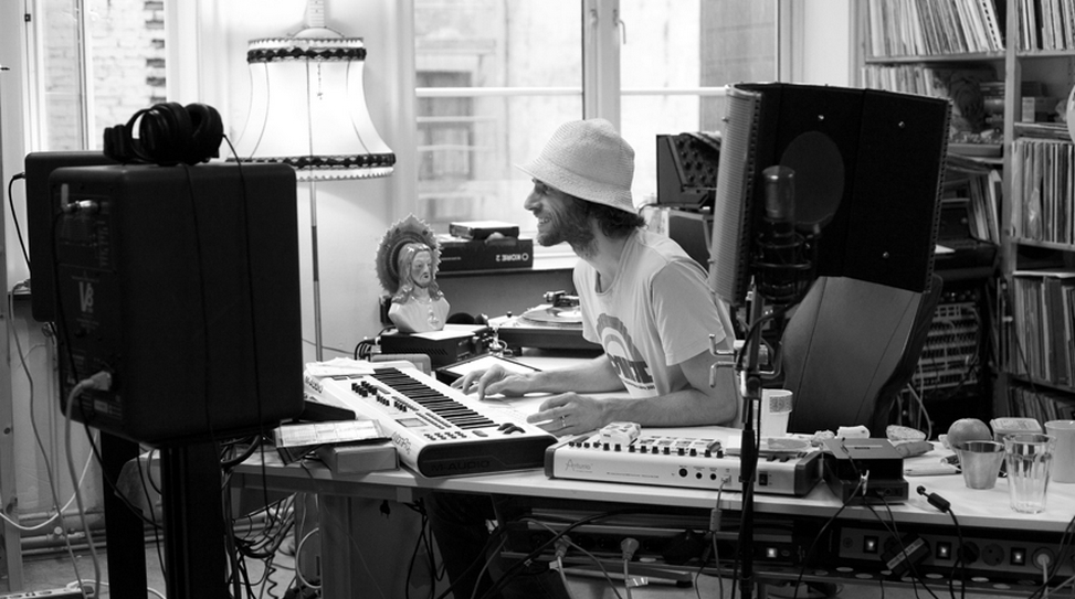 Lindstrøm in the studio