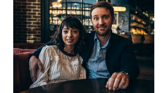 Kate Micucci and Sam Huntington, stars of Seven Stages to Achieve Eternal Bliss By Passing Through the Gateway Chosen By the Holy Storsh. © Reto Sterchi.